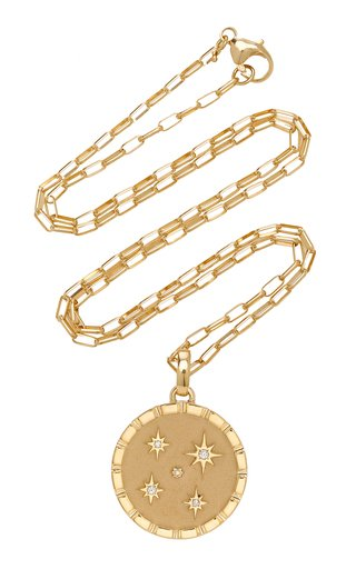 Multi Star 18K Yellow Gold Diamond Necklace