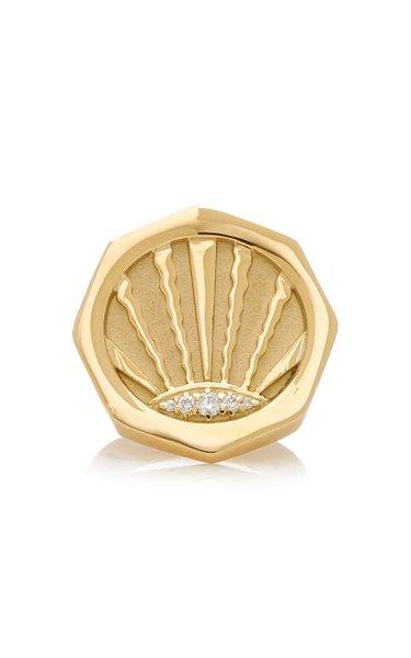 Ray 18K Yellow Gold Diamond Ring