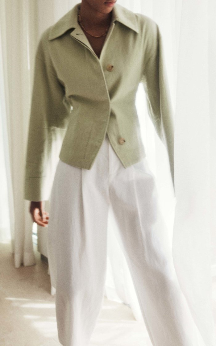 Cinched Cotton Jacket
