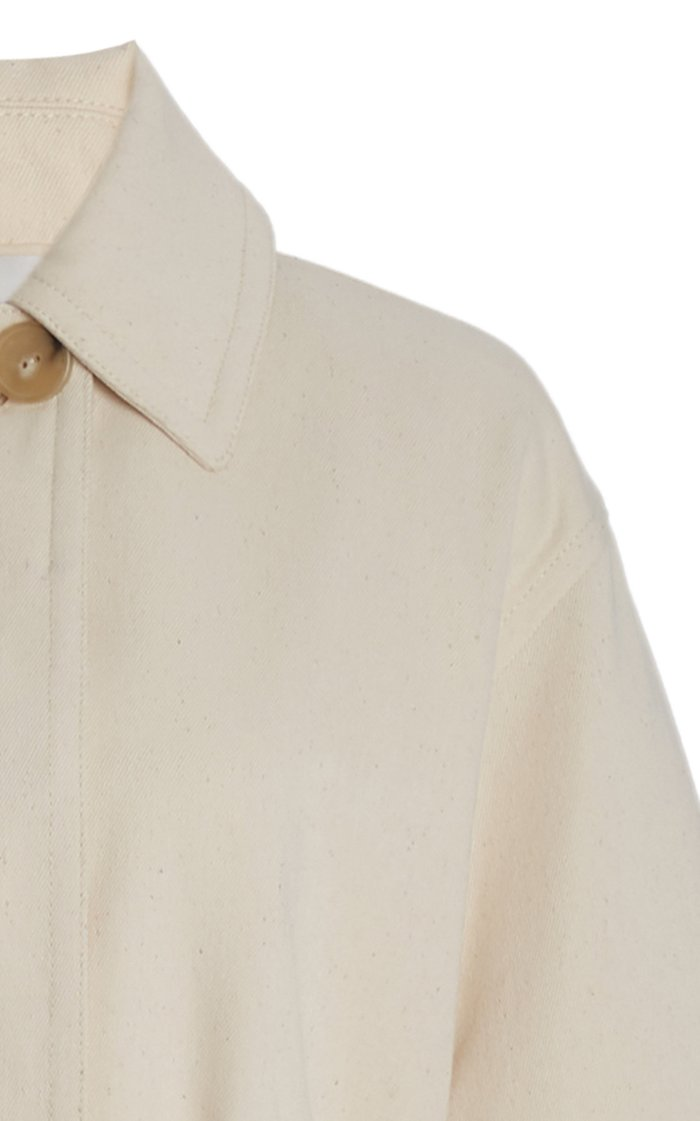 Belted Cotton-Blend Jacket