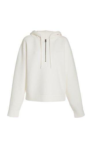Hooded Half-Zip Jersey Sweatshirt