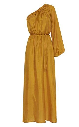 Grazia Asymmetric Silk Maxi Dress