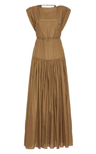 Nova Cotton-Silk Maxi Dress