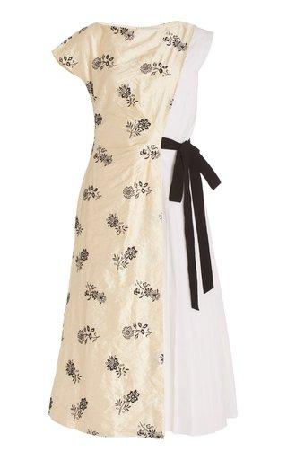 Herbert Patchwork Midi Dress