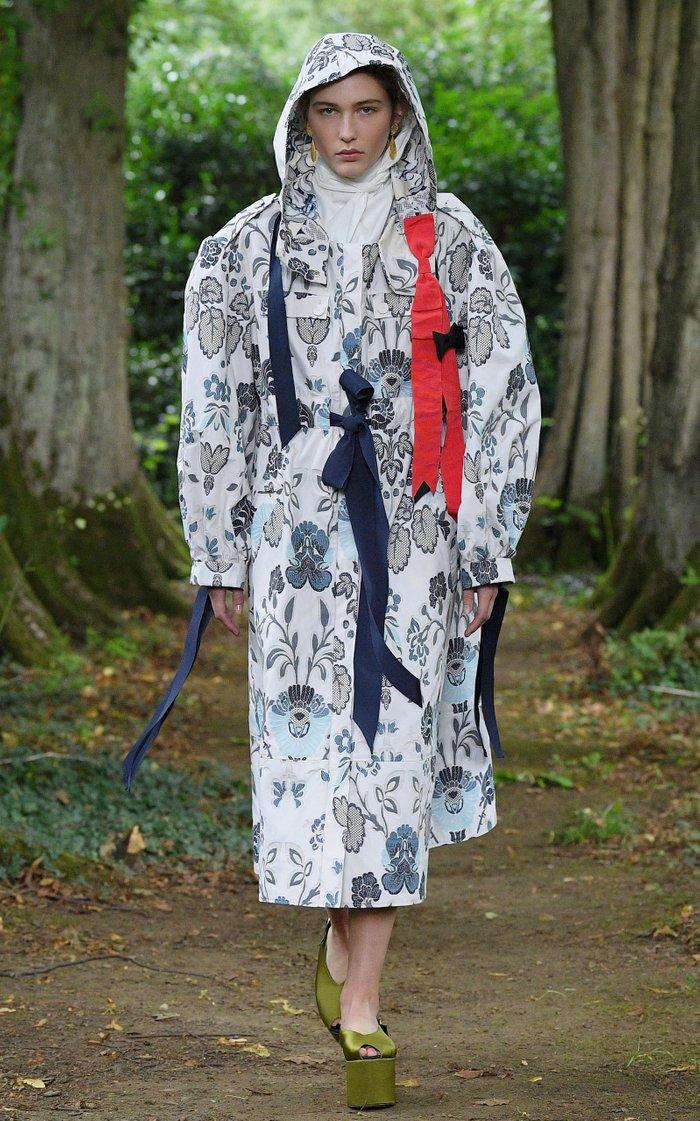 William Tie-Waist Cotton-Blend Hooded Coat