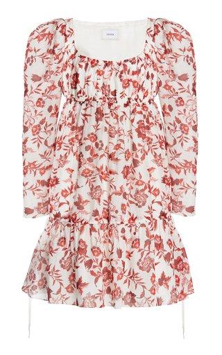 Sibyl Floral Cotton-Silk Mini Dress