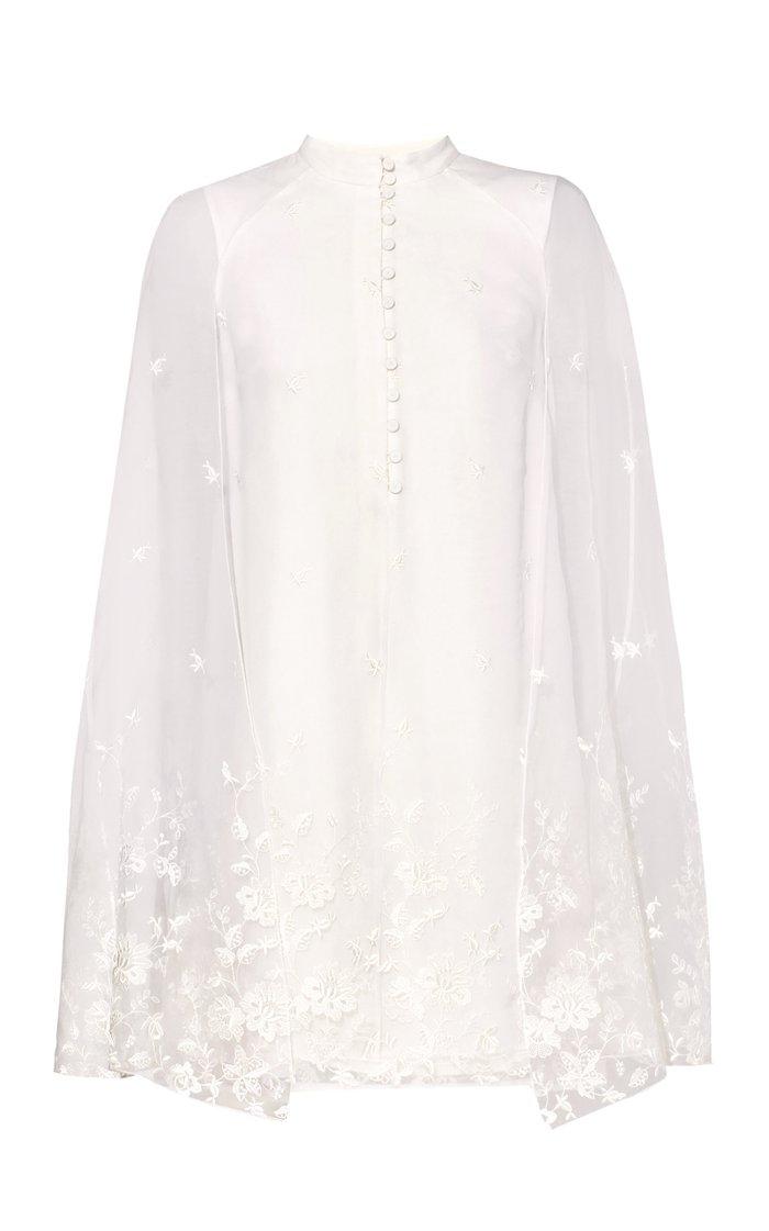 Caelyn Cape Overlay Mini Dress