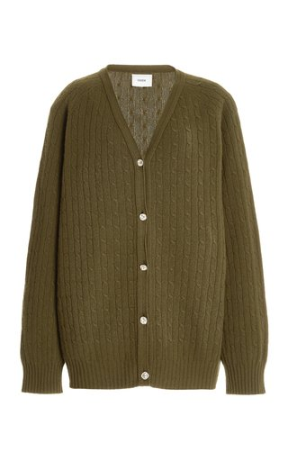 Myra Oversized Cable-Knit Wool-Cashmere Cardigan