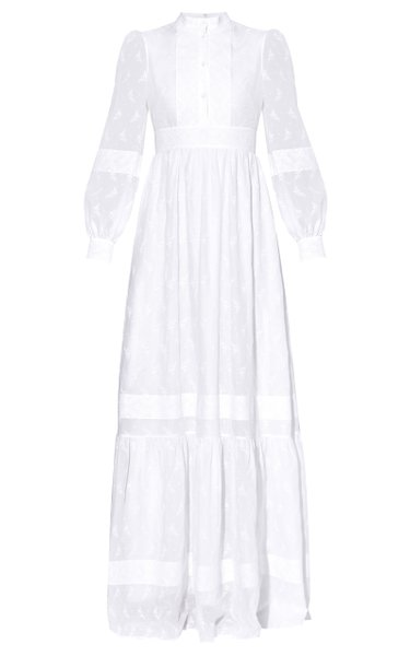 Ulrica Long Sleeved Cotton-Blend Gown