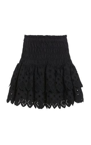 Hazel Broderie Anglais Cotton Mini Skirt