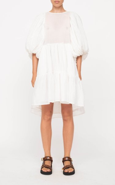 Bailey Broomstick Tiered Cotton Dress