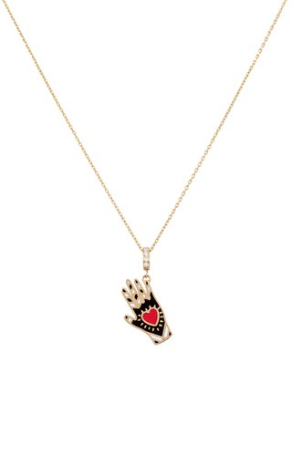 18K Yellow Gold Heart On a Sleeve Pendant