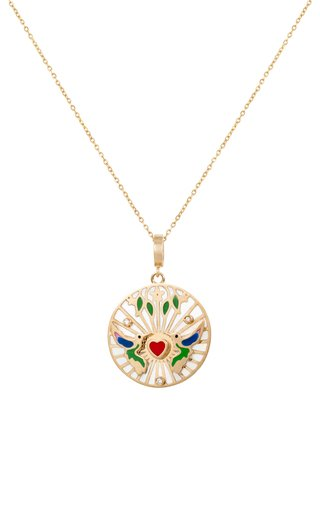 18K Yellow Gold The Love Bird Pendant