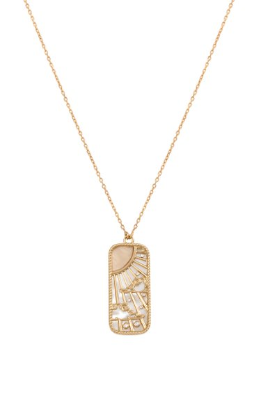 18K Yellow Gold Elements of Love Air Pendant