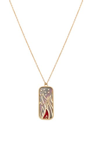 18K Yellow Gold Elements of Love Fire Pendant