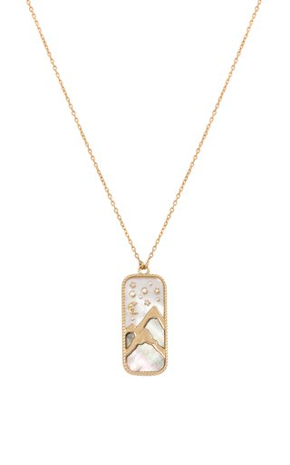 18K Yellow Gold Elements of Love Earth Pendant