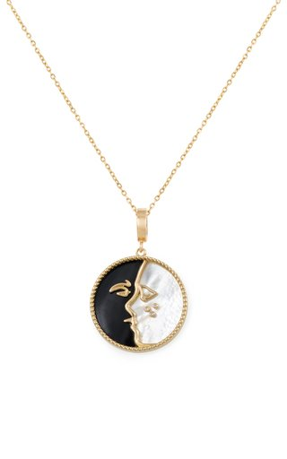 18K Yellow Gold The Kiss Pendant