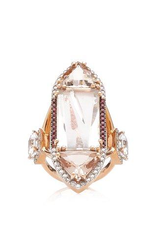 Extravaganzza 18K Rose Gold Multi-Stone Ring