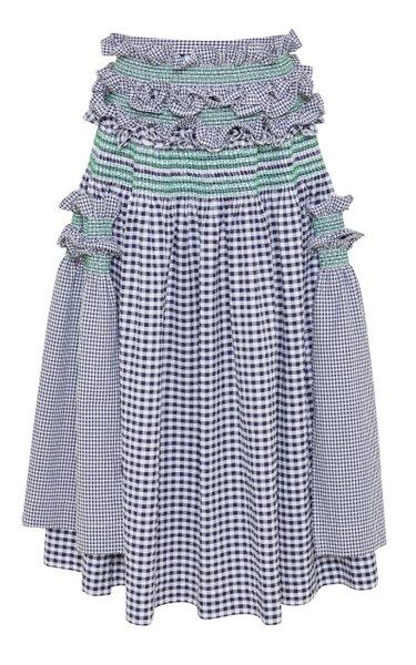 Dillis Cotton Gingham Skirt