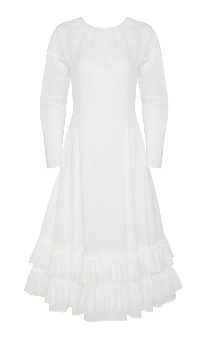 Alonya Long Sleeved Cotton Voile Dress