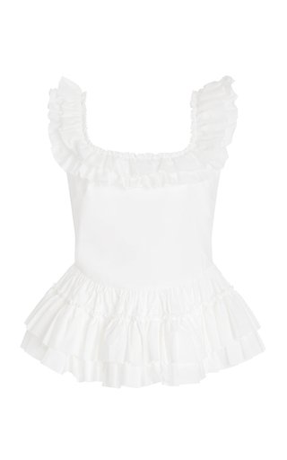 Oliver Ruffled Cotton Top