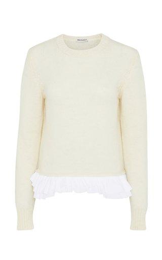 Panza Ruffled Wool Sweater