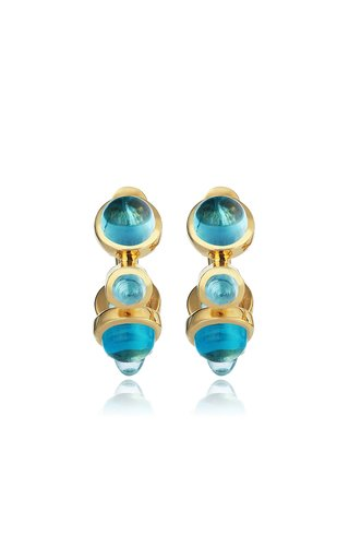 Celestial Aegean Islands 18K Yellow Gold Topaz Earrings