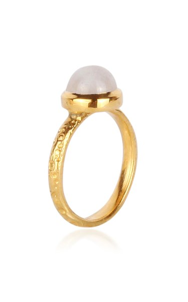 Celestial Medium Asteorid 18K Yellow Gold Moonstone Ring