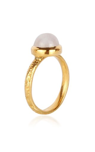 Celestial Medium Asteorid 18K Yellow Gold Moonstone Ring