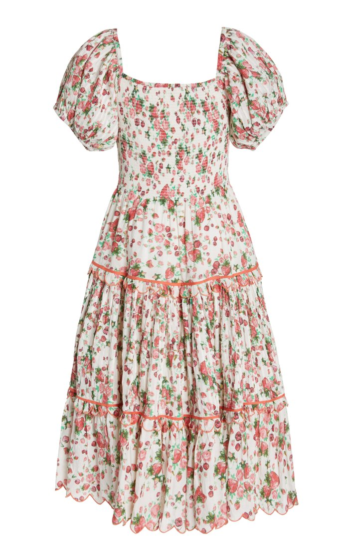 Masie Smocked Cotton-Blend Dress