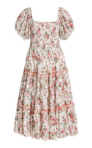 Masie Smocked Cotton-Blend Dress