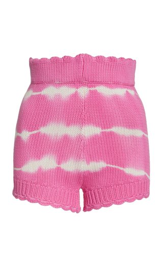 Karrisa Ribbed Cotton-Blend Shorts