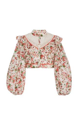 Egan Cotton-Lace Cropped Top