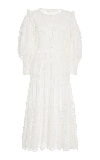 Titania Eyelet-Embroidered Cotton Maxi Dress