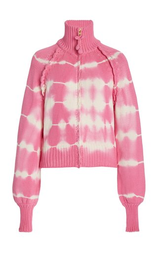 Florrie Tie-Dyed Cotton-Blend Cardigan Sweater