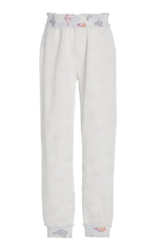 Clea Cotton-Knit Jogger Pants