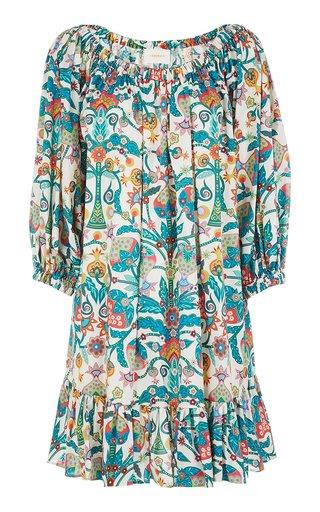 Paloma Printed Cotton Mini Dress