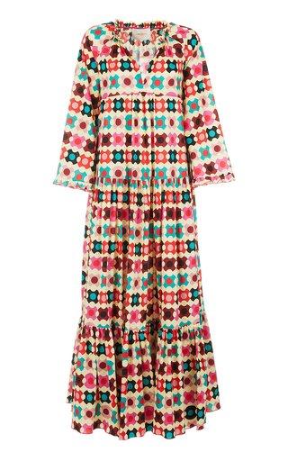 Dove Printed Cotton Maxi Dress
