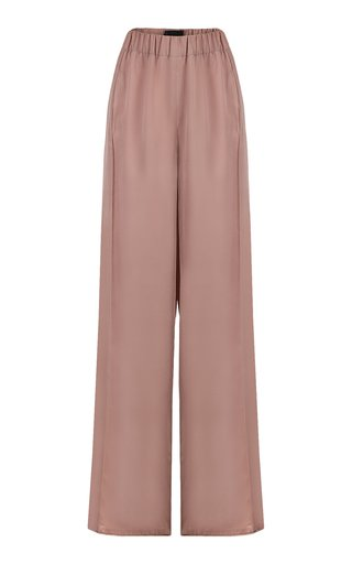 Satin Wide-Leg Square Pants