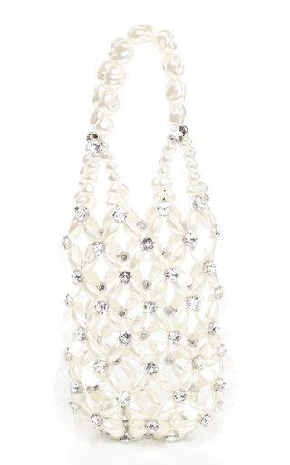 Pearl Beaded Top Handle Bag