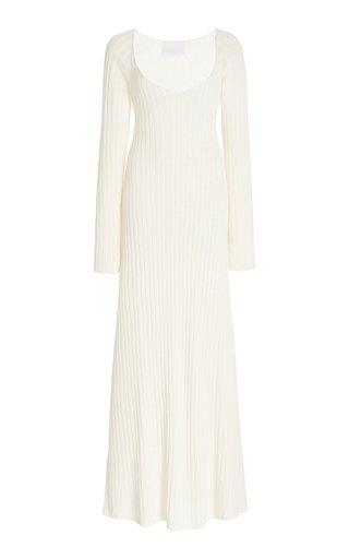 Linen-Blend Maxi Dress