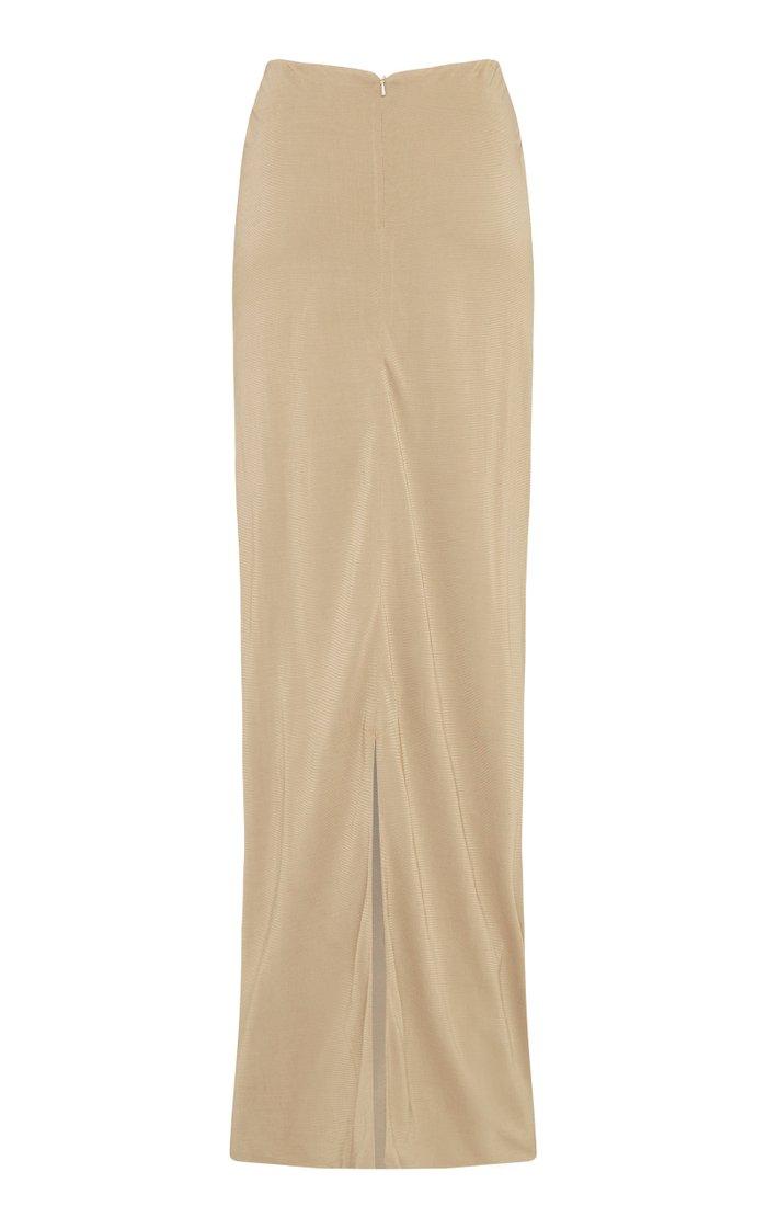 Knit High-Waisted Maxi Skirt