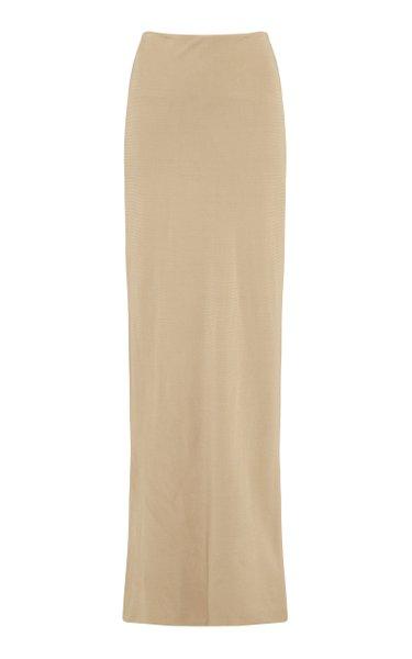 High-Waisted Knit Maxi Skirt