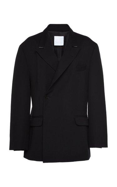 Male Double-Button Cotton-Blend Blazer