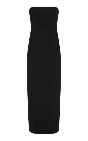 Audrey Strapless Satin Maxi Dress