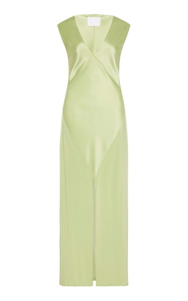 Bettina Sleeveless Front-Slit Maxi Dress