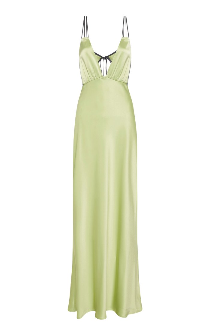 Bernie Sateen Sleeveless Maxi Dress