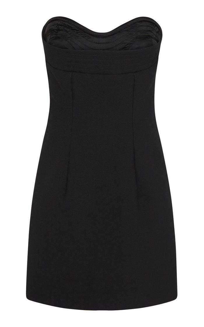 Wave Strapless Mini Dress
