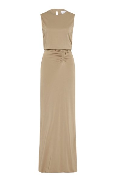 Clara Sleeveless Satin Maxi Dress