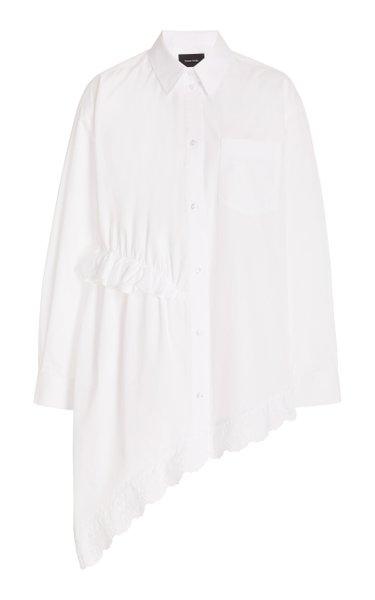Asymmetric Cotton Button-Down Shirt